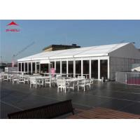 China 10 x 24m White Reinforced Pvc Fabric High Peak Tent For 200 People / Roof Top Polygonal Tent wholesale