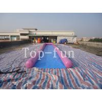 China 0.9mm PVC Tarpaulin Inflatable Big Air Slide / Circle / Blob For Water Purple or Blue wholesale