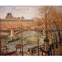 China Impressionist(3830) The_Pont_du_Carrousel,_Afternoon wholesale