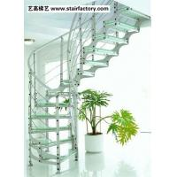 Cheap Glass Staircase Glass Steel Stairs Steel rods Stainless Steel Columns wholesale