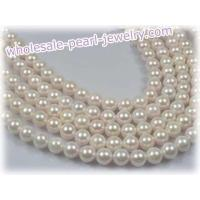 Cheap cultured akoya pearl strands (7.5-8mm) wholesale