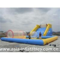 China Inflatable Zorbing Ramp Inflatable Zorb Ramp and Water Pool Combo wholesale