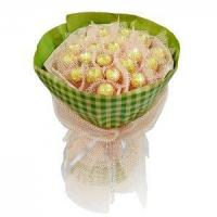 China Birthday bouquet of 21 pieces of ferrero rocher NO.3 delivery birthday wholesale