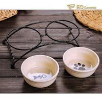 Ceramic Bowl Dual Feeding Ceramic Dog Bowl