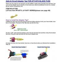 Fuse & Fuseholder Add-A-Circuit Adapter Tap For ATY/ATO Blade Fuse