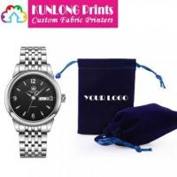 China Microfiber Watch Pouches with Printing Logo (KLCWP-001A) wholesale
