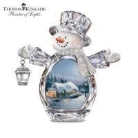 Cheap Thomas Kinkade Crystal Reflections Christmas Snowman Figurine CollectionModel # CT48082 wholesale