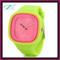 China 2016 silicone jelly watches no logo with interchangeable band and big face for teens Top selling wholesale