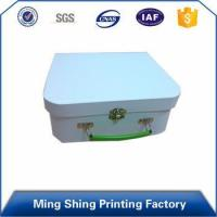 Paper Material, Glossy Stamping custom paper cardboard lock storage box with handle