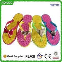 colorful beautiful sexy lady pvc flip flops