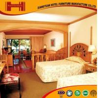 China OEM outsourcing Standard Room solid wood mirrored model hotel furniture bedroom wholesale