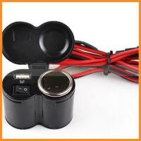 Wholesale DC12-24V Waterproof USB Port Motorcycle Cigarette Lighter Charger from china suppliers