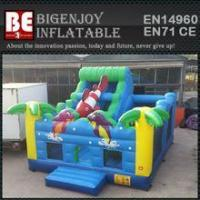 China multiplay bouncer ocean inflatable bouncer slide wholesale