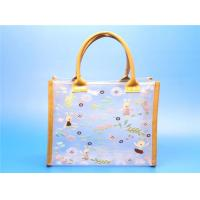 China quality PVC women tote bags with PU edge wholesale