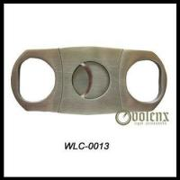 China Double Blade Stainless Steel Cigar Cutter wholesale