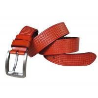 China Hot selling good quality men real leather belt brands wholesale