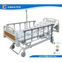 China Remote Control Mobile Handicapped Electric Hospital Bed With IV Pole Three Functions wholesale