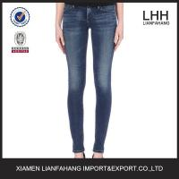 China Europe style plain skinny jeans for women wholesale