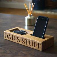 China Personalised Oak Phone and Coin Tray wholesale