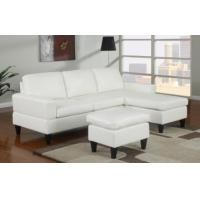 Sausalito Cream Leather Small Sectional Sofa by Urban Cali
