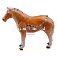 China TBP0014Y-horse trinket jewelry box horse figurine statue metal home decor wholesale