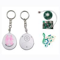 China High quality round musical chip key chain wholesale