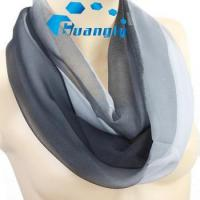 China Multi colors high quality soft silk feeling infinity scarf wholesale