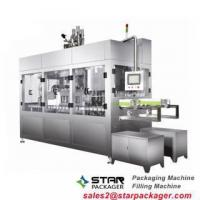 Hot rotary ice cream cup sealing filling machine